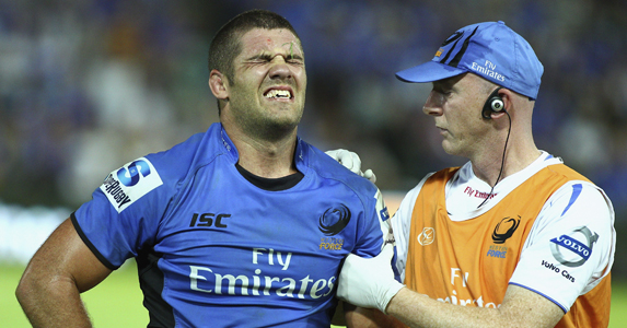 Hodgson was injured playing against Melbourne Rebels in a Super Rugby fixture