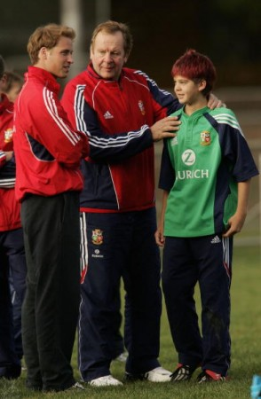 Royal Family: A young Josh Beaumont gets to meet Prince WIlliam on the 2005 Lions tour - nice hair!