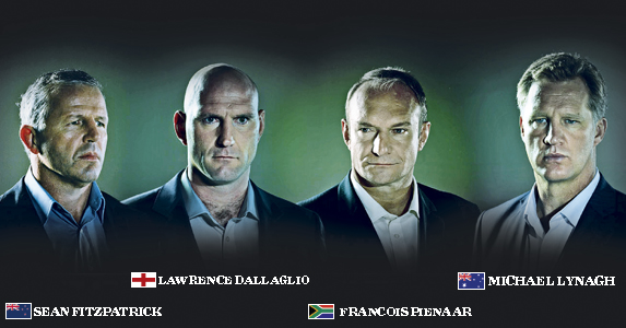 Four World Cup winning legends and now TV pundits for the 2011 Rugby World Cup