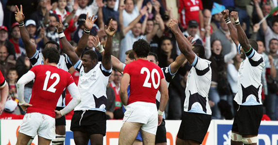 Fiji beat Wales 38-34 during the 2007 World Cup in a thrilling match to remember