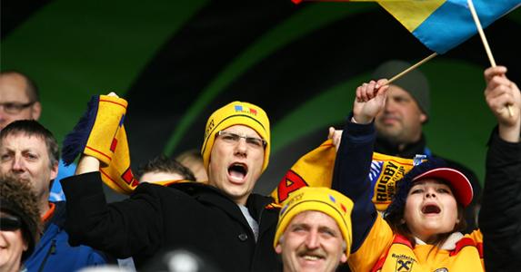 A few of Romania's many fans