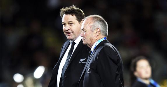 Winning partnership: Graham Henry and Steve Hansen will coach the Barbarians in November