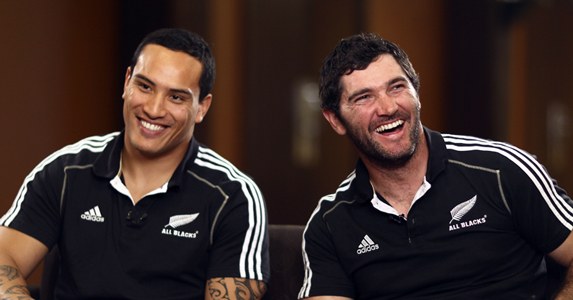 Hosea Gear (L) and Stephen Donald (R) join the All Black fold