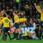 Australia celebrate beating South Africa