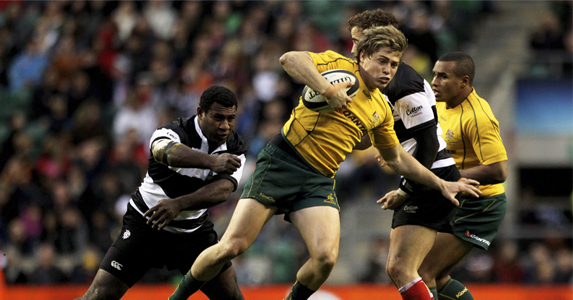 James O'Connor, here eluding Seru Rabeni, has given the Wallabies a genuine new option at fly-half