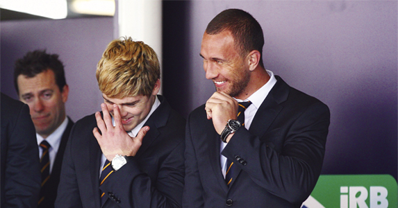 Terrible twosome: James O'Connor and Quade Cooper