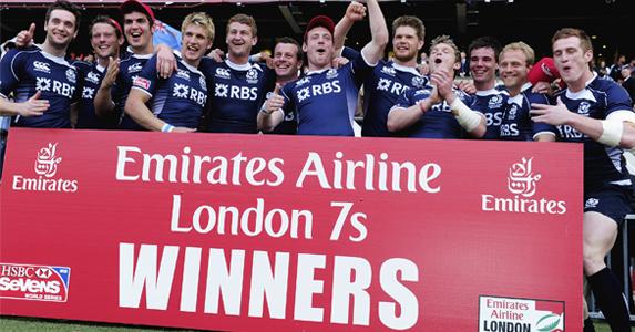 Scotland Sevens won the Bowl Final during the IRB Sevens tournament at Twickenham