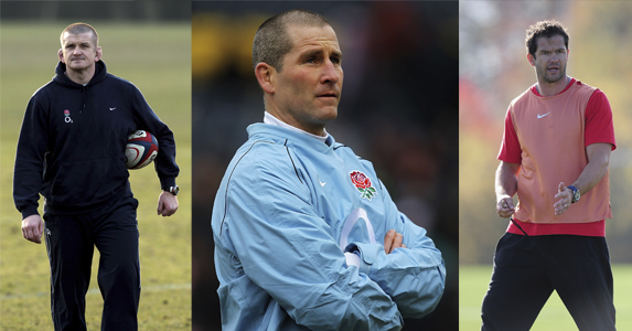 England interim coaching staff: (L-R) Graham Rowntree, Stuart Lancaster and Andy Farrell