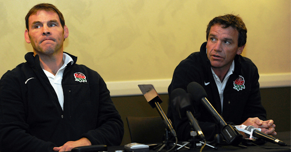 Mike Ford and John Wells seen dring an interview during the World Cup