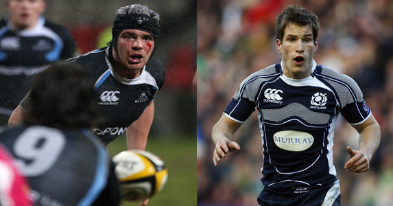 Tom Ryder (L) and Phil Goodman will join the Scotland squad training next week