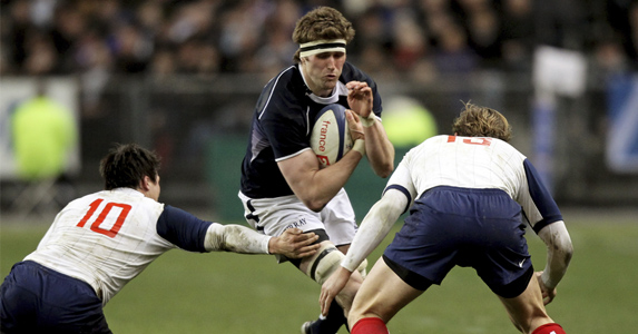 John Barclay on the attack for Scotland in last season's clash with France