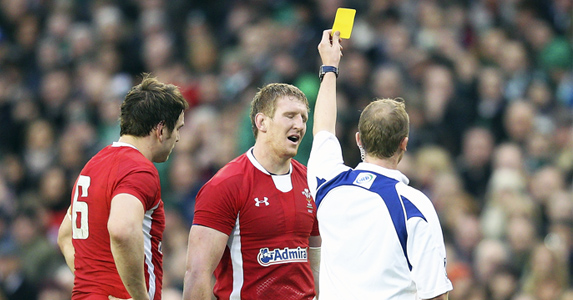 Davies was sent off by referee Wayne Barnes for his tackle on Donnacha Ryan