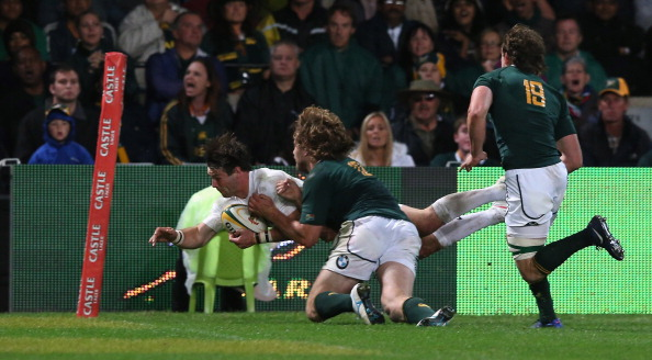 Ben Foden dives in for England's consolation try