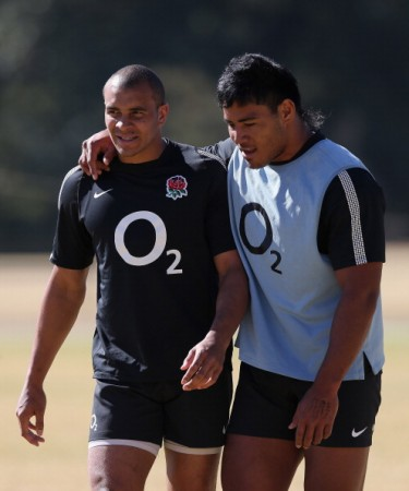 Jonathan Joseph (left) and Manu Tuilagi will combine at centre for England