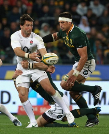 Close attention: Ben Foden under pressure
