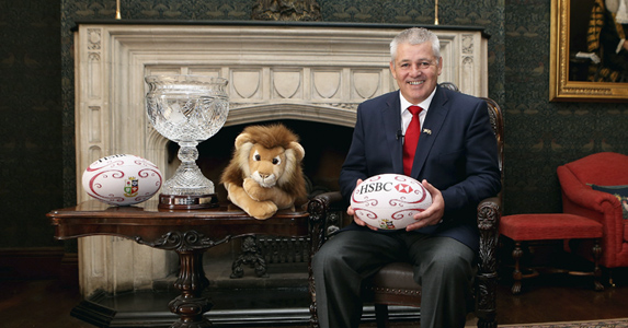 Warren Gatland pictured at the offical launch today