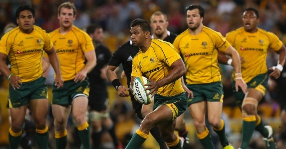 Bouncing back: Kurtley Beale has stepped in at fly-half for the depleted Wallabies