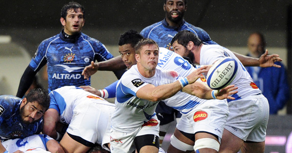 Top trumps: Castres' Rory Kockott is the top