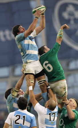 Work in progress: The Pumas were let down by their lineout