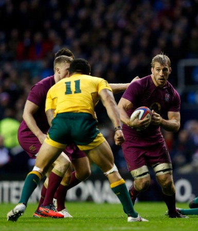 Leader: Robshaw was shackled by Aussies