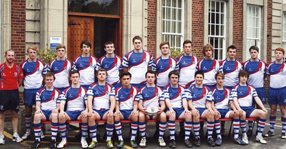 Back row (from left): Mr G Mason (head of rugby), L Holt, H Ravenscroft,  A Thorneycroft, J Duncan, J Kenny, O Kenny, M Parker, E Horton, T Mort,  D Percival, T Fairclough. Front: R Nichols, D Greer, B Marsden, M Stubbs,  J Sadler (capt), A McCloskey, D Sheratte, J Hale, J Robinson.