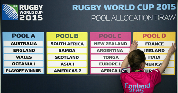 The pools will be finalised on