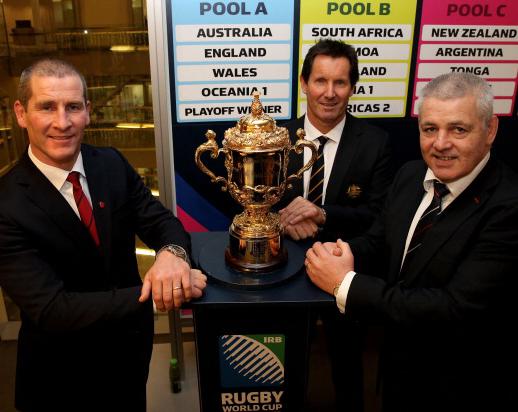 Stuart Lancaster, Robbie Deans and Warren Gatland