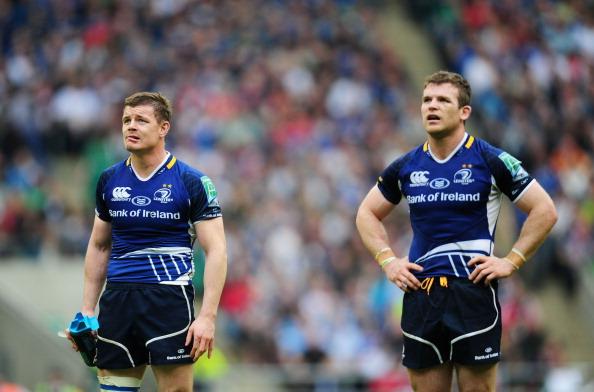Old familiar: Brian O'Driscoll and Gordon D'Arcy renew their partnership