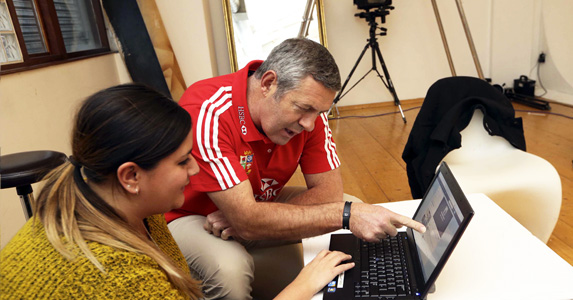 Pouring over your questions: HSBC ambassador Gavin Hastings during our Q&A