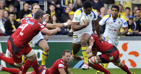 Breaking clear: Napolioni Nalaga has been one of the stand out performers in this season's Heineken Cup