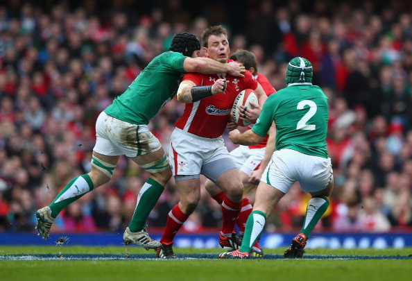 Collared: Sean O'Brien and Rory Best target Mathew Rees