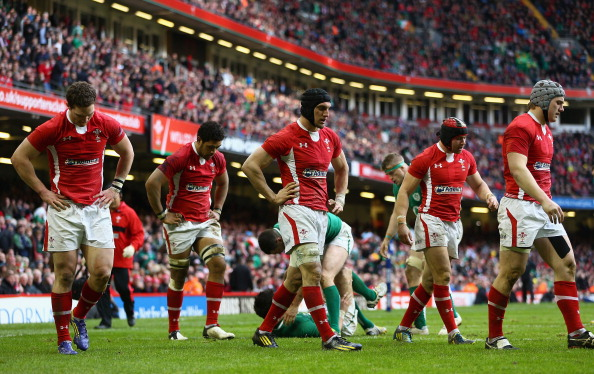 Frustation: Wales only rallied when down