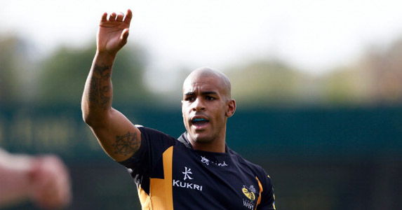 Man in form: Tom Varndell is currently the top scorer in Europe's top three leagues, with 12