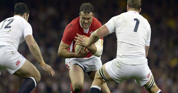 Gain line breaker: A veteran of the 2009 Tour, Jamie Roberts is the a heavy duty attacking weapon