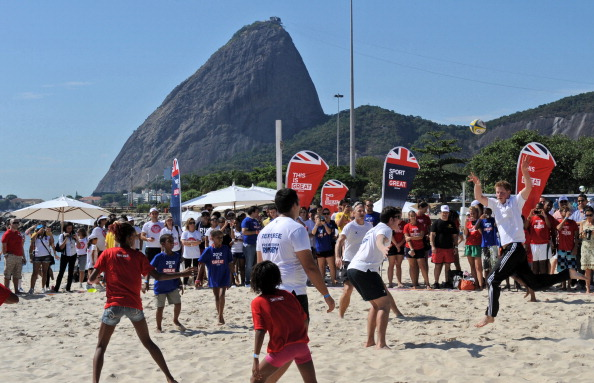Rio rugby: Prince William takes part in beach rugby last year