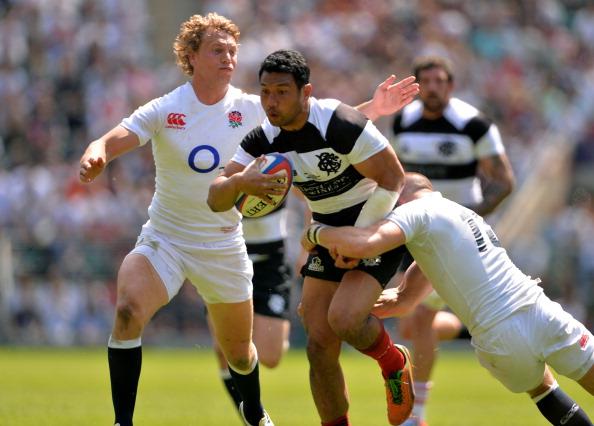 Shut down: Casey Laulala fails to break through England