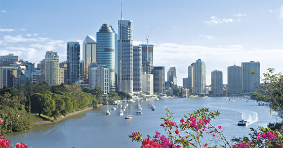 City in bloom: the Brisbane River is named after an ex-Governer of NSW