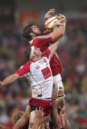 Thief: Geoff Parling has been helping himslef at the lineout