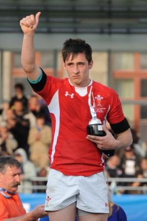 The current holder: Wales' Sam Davies takes the award