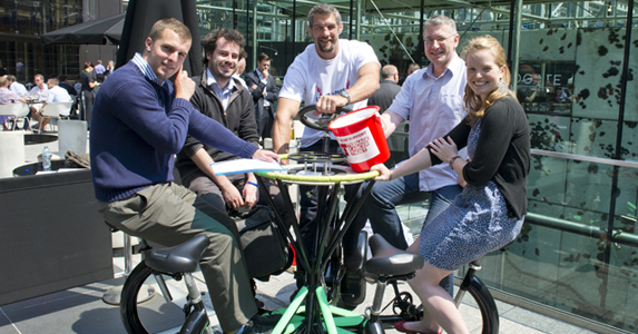 A sociable guy: Simon Shaw will cycle the CoBi from London to Paris this month
