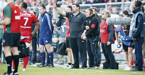 Too involved: Olivier Azam directs Toulon from the sidelines