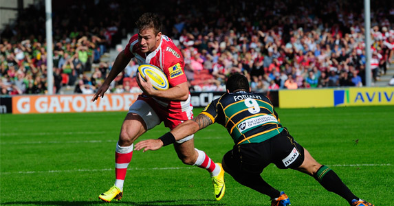 Breaking in: Gloucester's Henry Trinder has shown enough to force his way into England's EPS and is likely to be capped against Australia