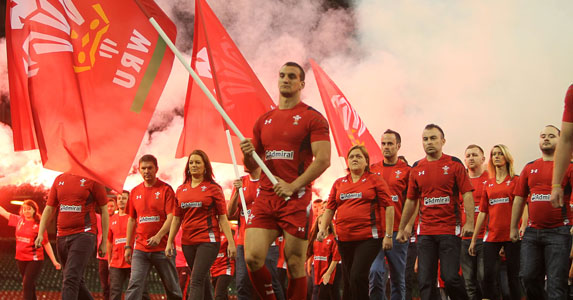 Red army: Sam Warburton will be leading out Wales at the Millennium Stadium this November