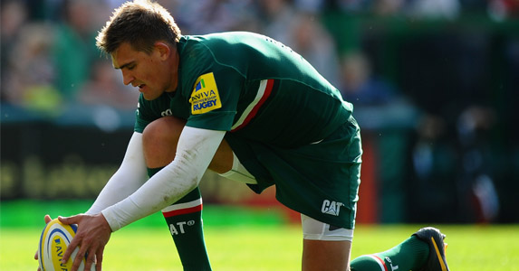 Man with vision: Leicester Tigers fly-half and captain previews the upcoming Midlands derby with Northampton Saints