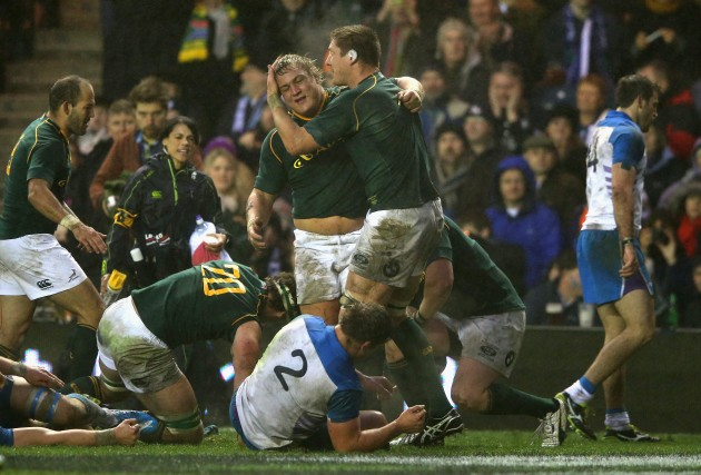 Musclebound: South Africa's pack enjoyed their day