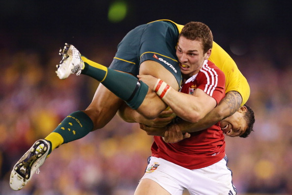 Memories: North and Folau had a titanic battle in the summer
