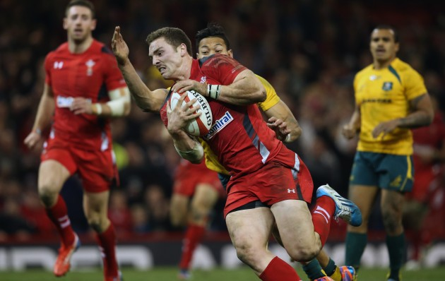 Stunning display: George North again shone