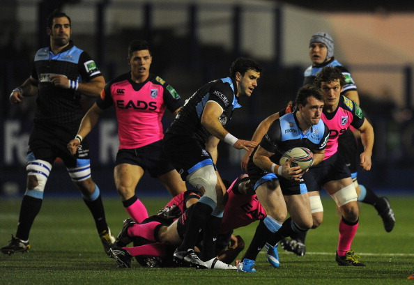 In a Stu: Stuart Hogg on the attack for Glasgow against Cardiff during a trying weekend for Scottish rugby