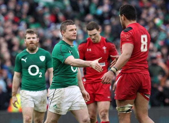 Well beaten: O'Driscoll offers Faletau a hand