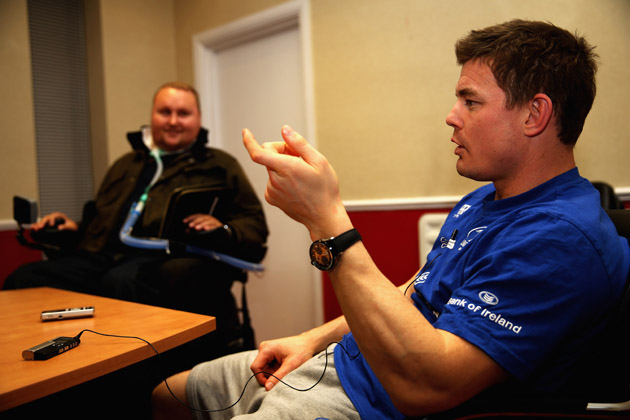 Matt Hampson Brian O'Driscoll